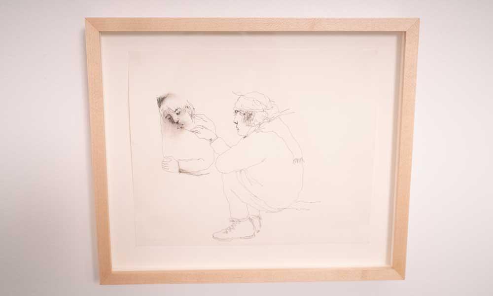 Untitled (drawing lips), Mindy Alper