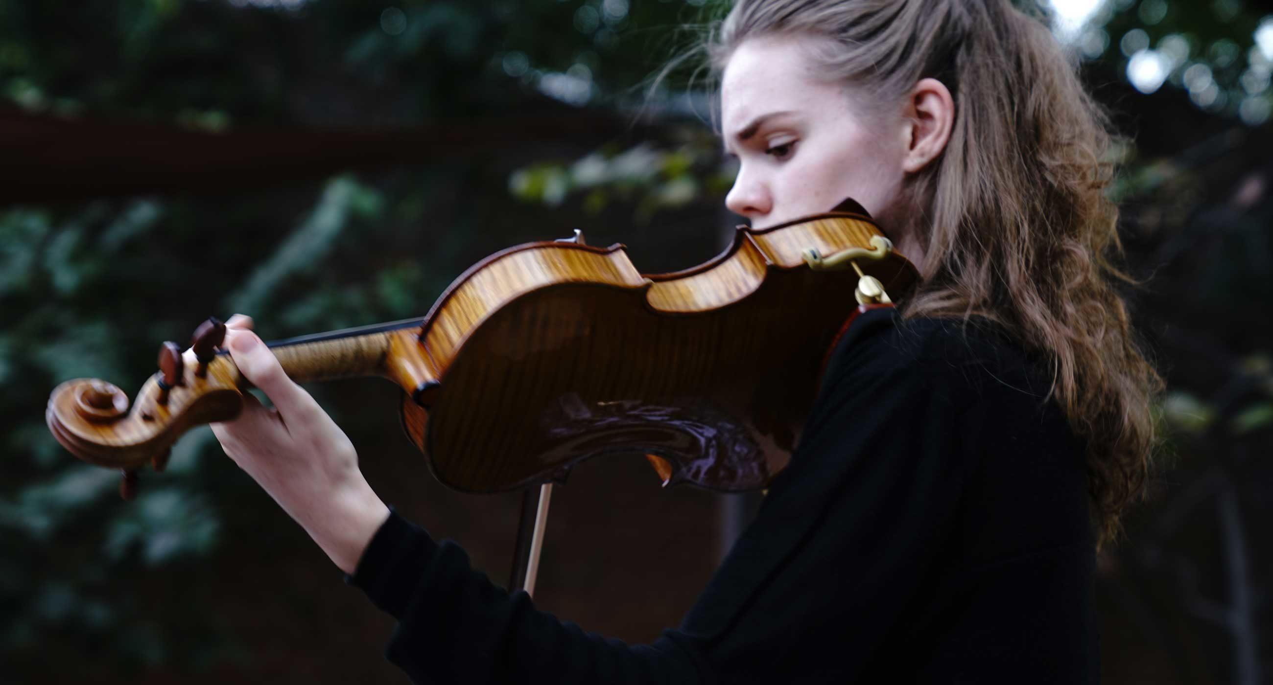Violinist Madeleine Vaillaincourt