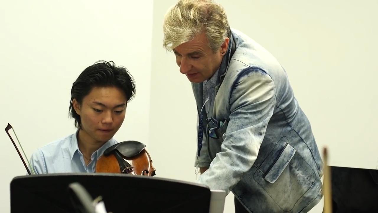Jean-Yves Thibaudet coaches violin student Ray Ushikubo