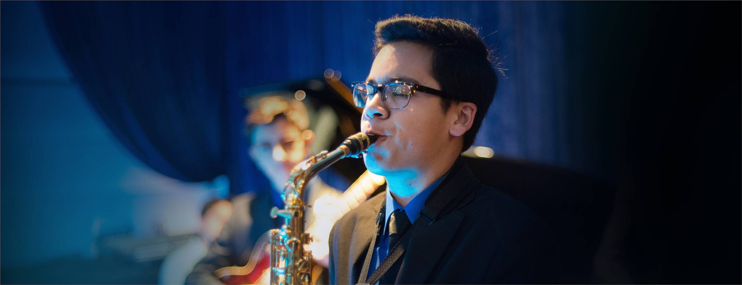 Saxophone soloist performing