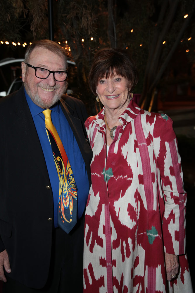 Warner (left) and Carol Henry (right) at the 2018 Colburn School Gala