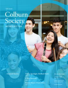Colburn Society newsletter cover