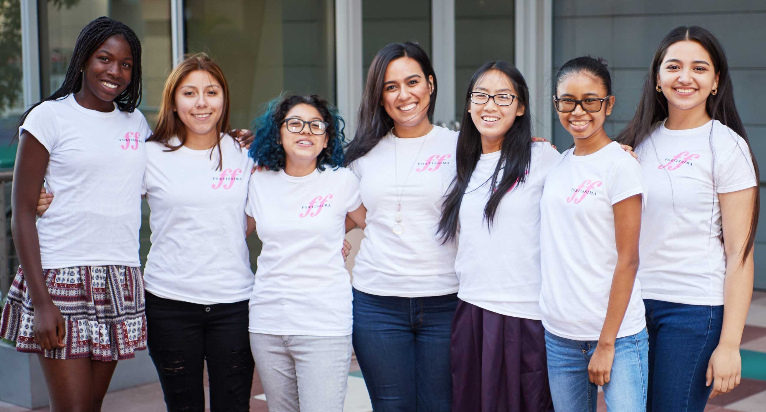 Fortissima cohort of young women of color with Jazmín Morales