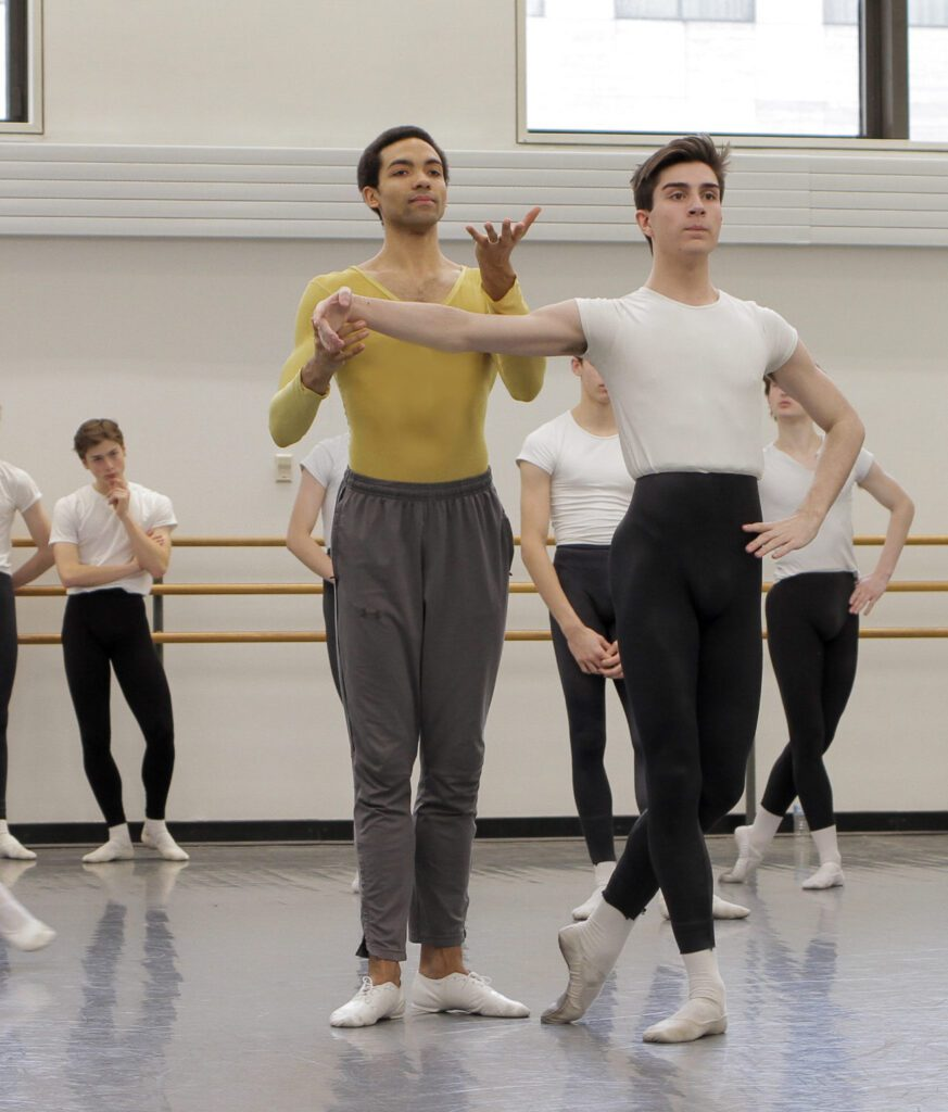 Silas Farley teaching at The School of American Ballet