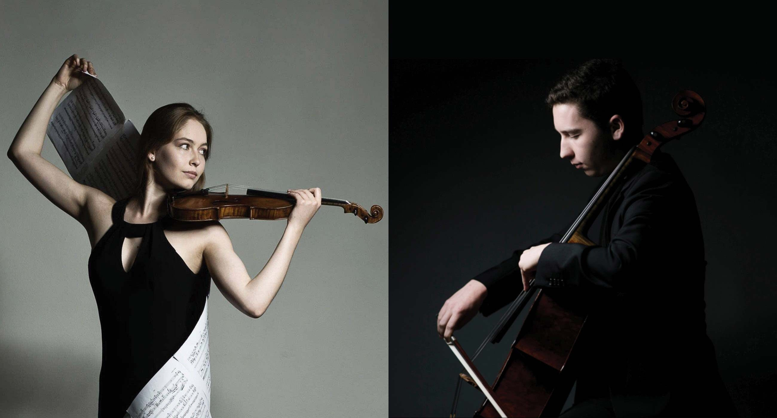 Geneva Lewis (Community School '16) and Oliver Herbert (Music Academy '15)