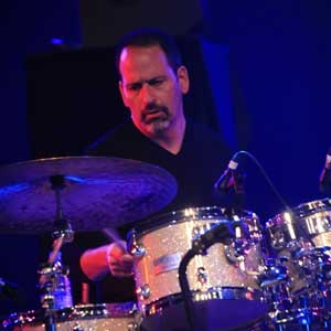 Mike Packer sitting at a drumset
