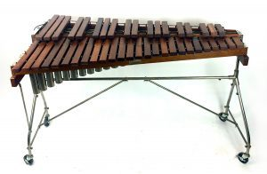 Xylophone with wooden keys