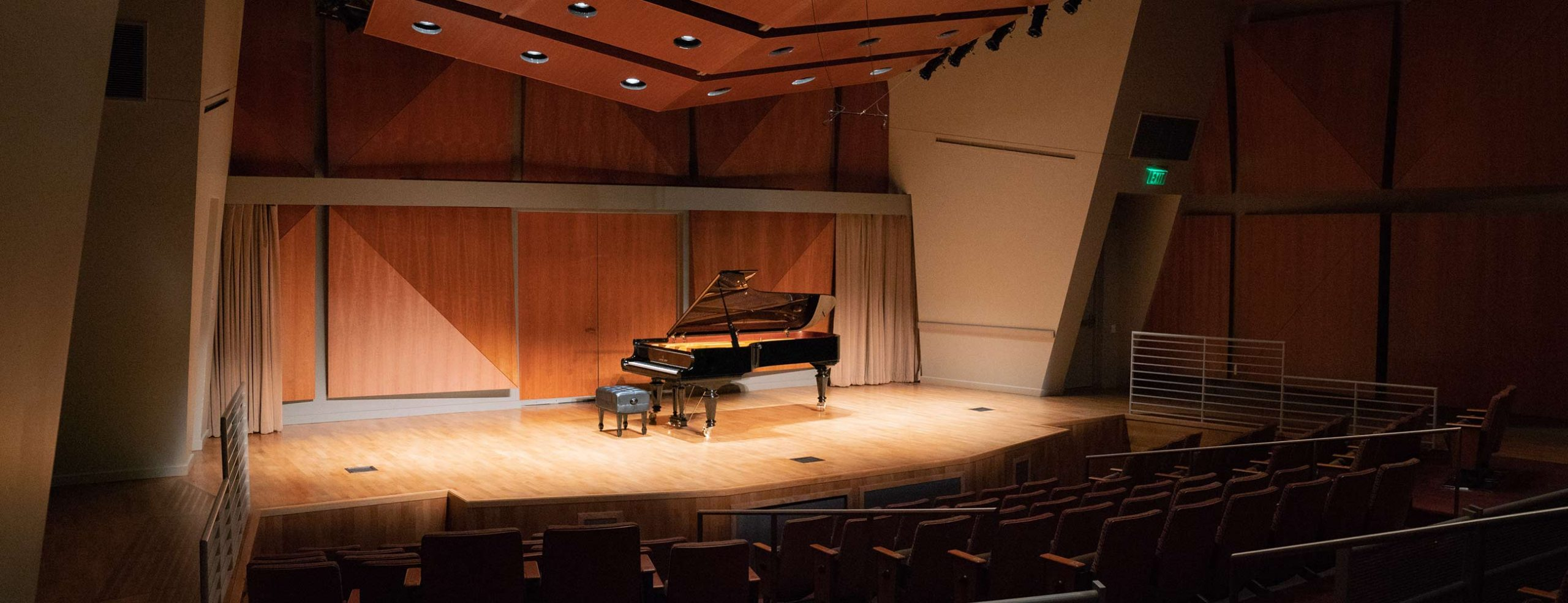 Piano on Thayer Hall stage