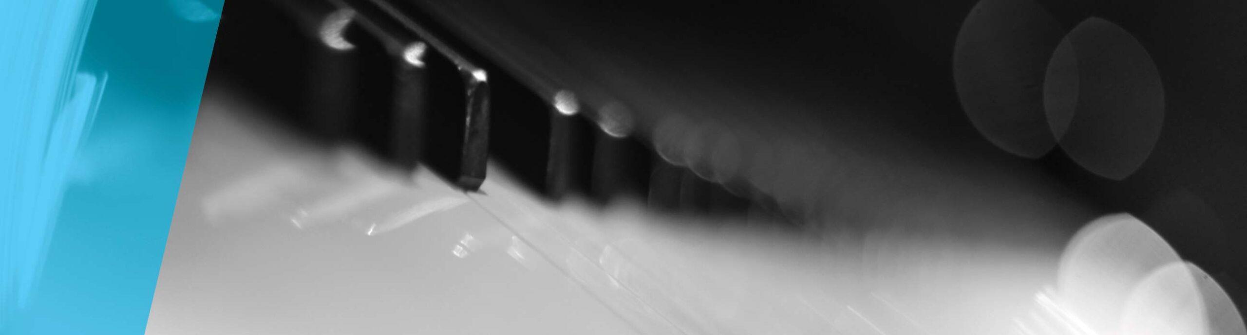 Abstract photo of piano keys